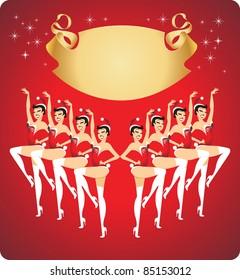 New year celebration cabaret show