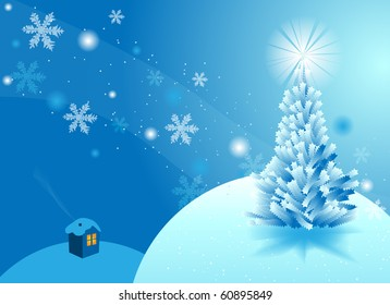 New year and Christmas background