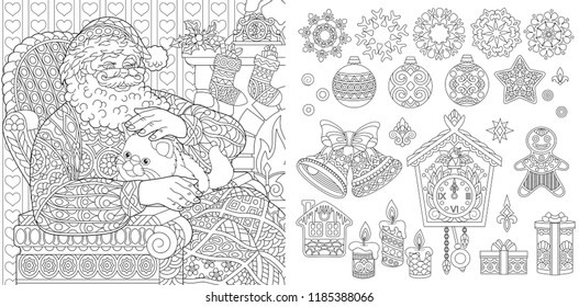 christmas coloring pages coloring book for adults colouring pictures with