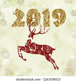 New year christmas greeting cards