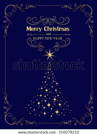 New Year Christmas Greetings Design Elegant Stock Vector (Royalty ...