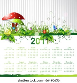 new year eco green calendar design