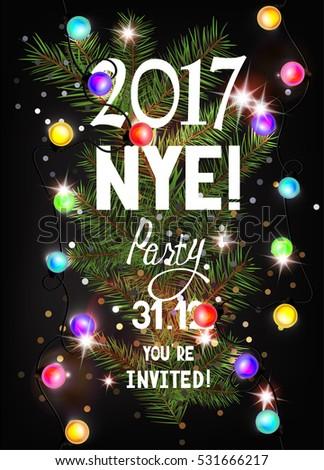 black white and gold metallic sparkle tel garland new years