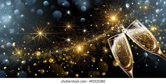 129.603tấm ảnh về ly rượu sâm panh trong khoảnh khắc đón giao thừa chào năm mới