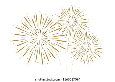 new year fireworks decoration vector illustration EPS10