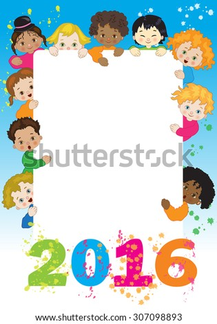 new year greetings with children