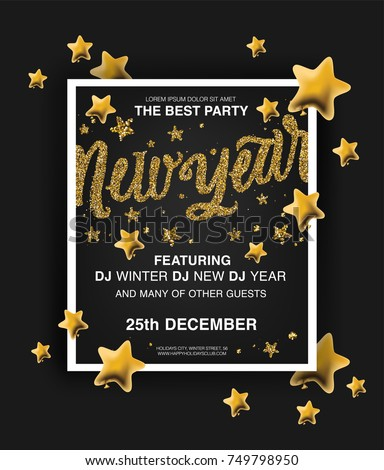 new year holiday poster templates beautiful holiday background with golden glitter text new