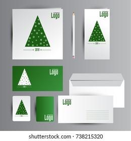 New year identity. Cards design.