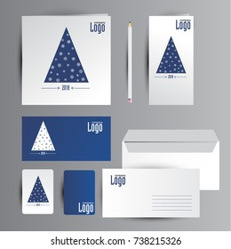 New year identity. Cards design.
