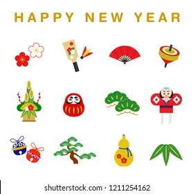 New Year illustration set
