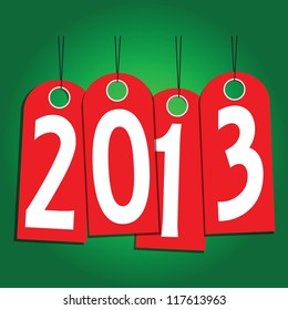 New Year labels of the year. Vector illustration.