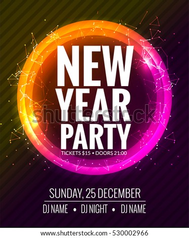 New Year Party Christmas Party Poster Image Vectorielle De Stock