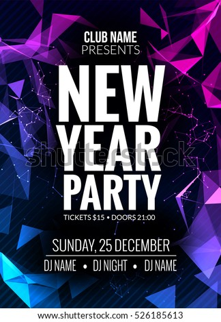 new year party design banner event celebration flyer template new year festive poster invitation