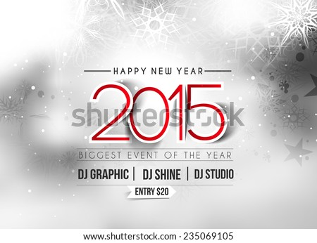 New Year Party Flyer Poster Template Stock Vector (Royalty Free ...