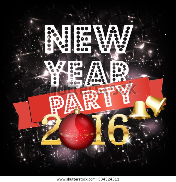 New Year Party Invitation Card Vector Royalty Free Stock Image