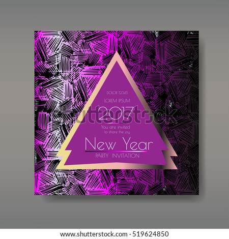new year party invitations template card has enough copy space vector format