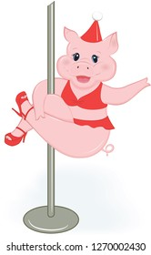 New Year pole pig