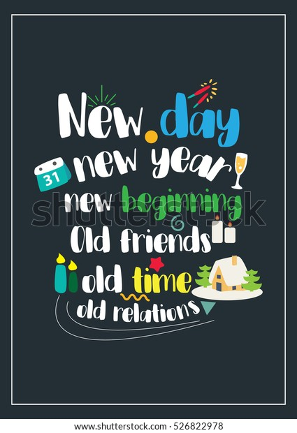 vector de stock libre de regalias sobre new year quote christmas