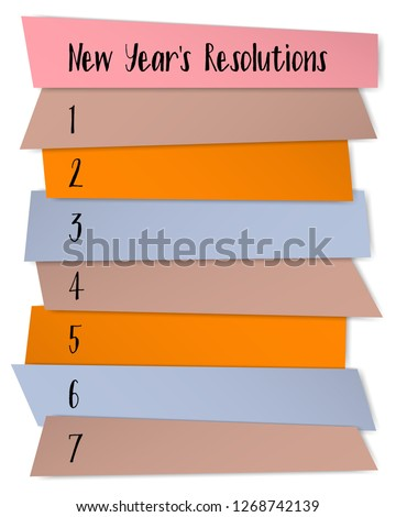 New Year Resolutions Sticky Notes Vector Stock Vector (Royalty Free