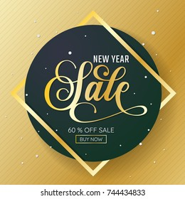 New Year sale Background Vector background for banner, poster, flyer
