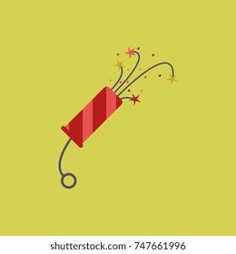 new year slapstick Vector illustration Christmas slapstick
