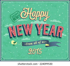 New year typographic design. Vector illustration.