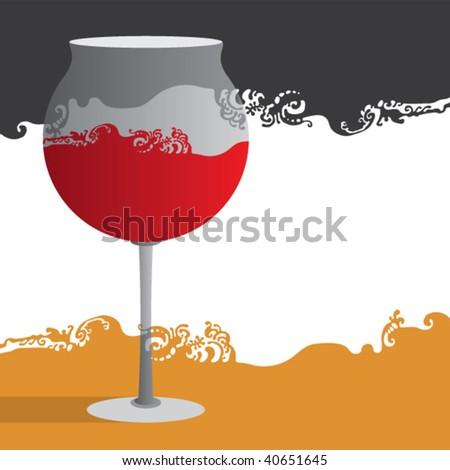 new year wine glass decorative