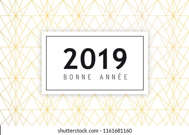 New Years 2019 Greeting card with French text