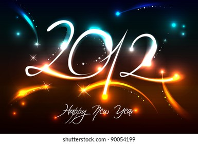 New Years banner for 2012 with back light and place for your text