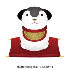 New year's dog Ornament illustration.