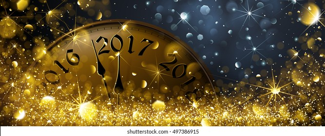 New Year's Eve 2017. Vector illustration