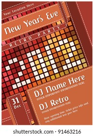 New Years Eve Party - Retro Poster