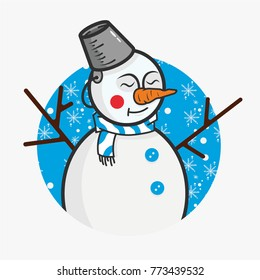 New Year's happy snowman