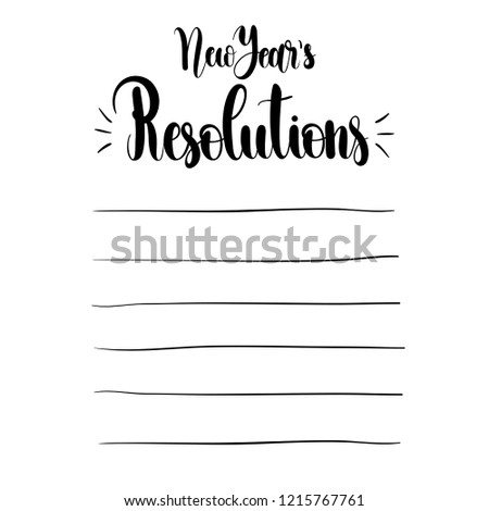 new years resolutions vector illustration isolated on white background concept of personal scheduling template