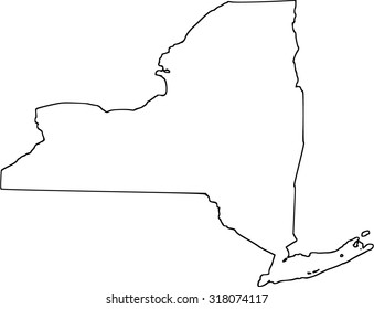 New York Map Illustration Images Stock Photos Vectors Shutterstock