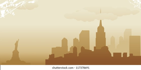new york abstract skyline