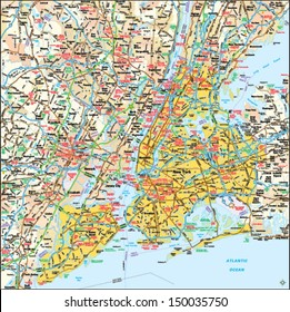 New York, New York area map