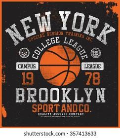 new york basketball  t-shirt graphic