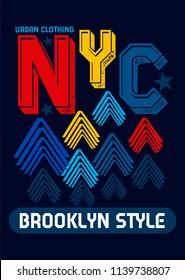 new york brooklyn style,t-shirt design