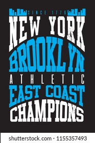 new york brooklyn urban poster distressed graphic apparel