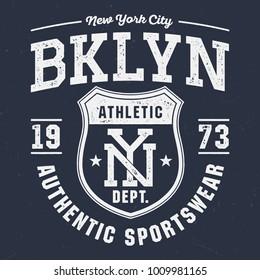 New York City BKLYN - Tee Design For Print