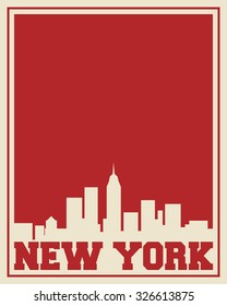 New York city concept, logo, label. Word and Icon Cloud. Hipster style. T-shirt design. Typography. Creative poster design.