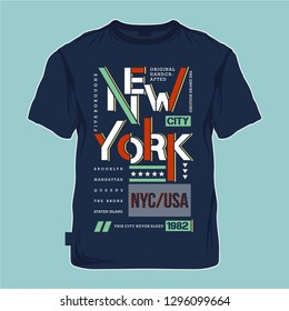 new york city cool color graphic typography design vector  t shirt to ready print and other use