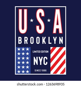 New York City flag typogra...hics, vectors - Vector
