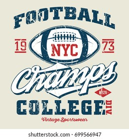 New York City Football Champs - Tee Design For Print