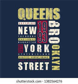 new york city graphic typography design t shirt for ready print and other use