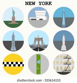 New York City icons - vector set eps10