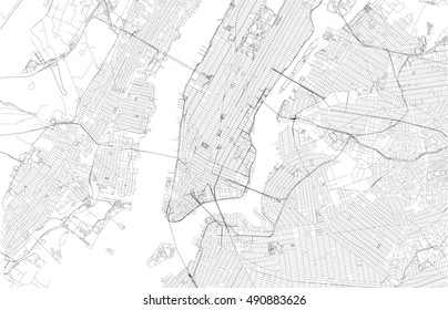 new york city map with streets usa