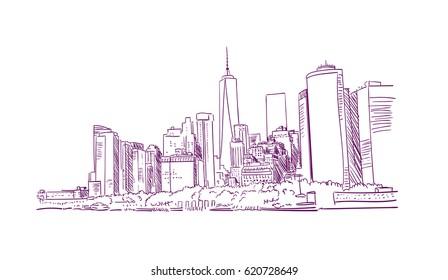 new york city sketch