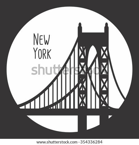New York City Skyline Detailed Silhouette Stock Vector Royalty Free